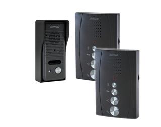 Domofon wandaloodporny jednorodzinny z interkomem bezsłuchawkowy Orno Eluvio czarny OR-DOM-RE-920/B