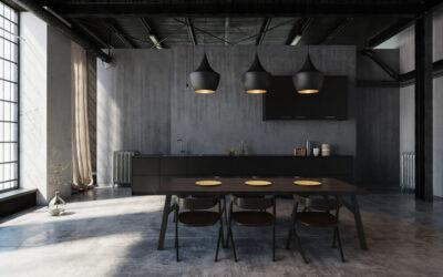Styl industrialny i loftowy w oświetleniu, czyli lampy betonowe