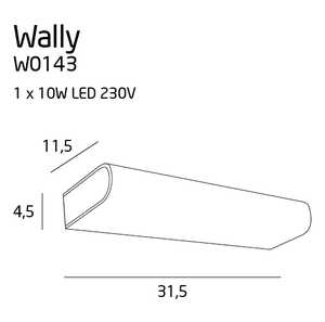 Kinkiet oprawa lampa ścienna  MAXlight Wally 1x10W LED chrom W0143